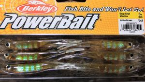 Berkley Drop Shot Minnow 3``Native Brown