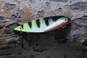 SpinMad Blade Bait 7 cm 18 g yellow perch